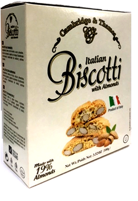 Cambridge & Thames Italian Biscotti with Almonds 100 gr., 12/cs