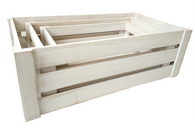 "Largest in S/3 White crates L:24""x13""x8""H"