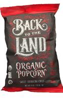 Coney Island ORGANIC Popcorn - Sweet Sriracha Chilli 113 gr., 12/cs  Gluten Free, Kosher
