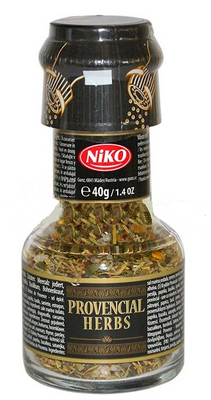 Niko Provencial Herbs with grinder 40 gr., 6/cs