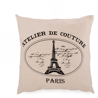 "Paris cushion 18""x18"""