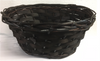 Oval willow and chipwood brown basket