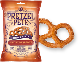 Pretzel Pete Mini Twists - Smokey BBQ 100 gr., 15/cs
