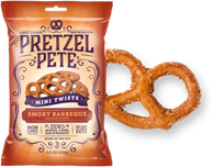 Pretzel Pete Mini Twists - Smokey BBQ 100 gr., 15/cs