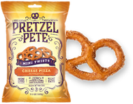 Pretzel Pete Mini Twists - Cheese Pizza 100 gr., 15/cs