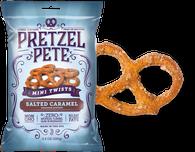 Pretzel Pete Mini Twists - Salted Caramel 100 gr., 15/cs
