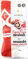 Queen T Candy Cane Almonds & Dark Chocolate 70 gr.,  gr., 24/cs