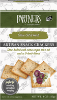 Partners Artisan Snack Crackers - Olive Oil and Herb 113 gr., 6/cs