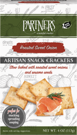 Partners Artisan Snack Crackers - Roasted Sweet Onion 113 gr., 6/cs