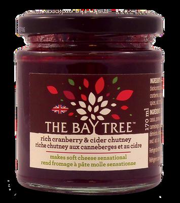 Bay Tree cranberry & cider chutney 170 gr., 6/cs