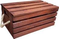 """Rectangular wood crate with detachable cover 14""""x8""""x6""""H"""