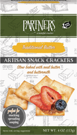 Partners Artisan Snack Crackers - Traditional Butter 113 gr., 6/cs