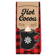 McSteven's Creamy & Delicious Hot Cocoa in a plaid box 70 gr., 6/cs