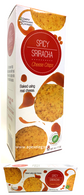 Simply Indulgent Gourmet Spicy Sriracha Cheese Crisps 170 gr., 12/cs