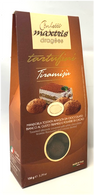 Confetti Maxtris toasted almonds covered with white chocolate tiramisu flavoured and cocoa dusted 150 gr., 12/cs