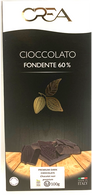 CREA Premium dark chocolate 60% bar (Black) 100 gr., 20/cs