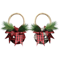 "Jingle Bell door knob hanger 5.5"" - 2 styles"