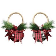 """Jingle Bell door knob hanger 5.5"""" - 2 styles"""