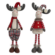 "Fabric Standing Moose 23"" - 2 styles"