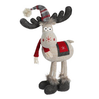 "Fabric 4-legged Moose 18""H"