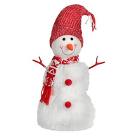 "Fabric standing snowman 18""H"