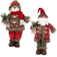 "Fabric standing Christmas Figures 18""H"