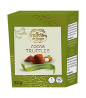 Truffettes de France Cocoa Truffles with Hazelnut pieces 52 gr., 21/cs