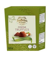 Truffettes de France Cocoa Truffles with Hazelnut pieces 52 gr., 21/cs