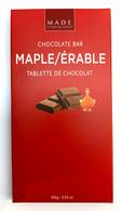 Made chocolate bar - Maple 100 gr., 24/cs