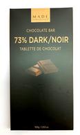 Made chocolate bar - 73% Dark 100 gr., 24/cs