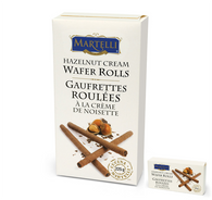 Martelli Hazelnut cream wafer rolls 225 gr., 12/cs