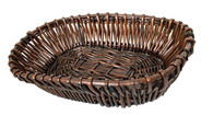"Oval willow basket 18""x12""x4""H"