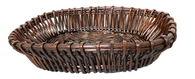 "Oval willow basket 20""x14""x4""H"