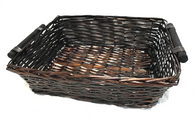 "Rectangular willow basket 18""x14""x5.25""H"