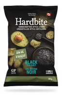 Hardbite Handcrafted Style Chips - Black Sea Salt 128 gr., 15/cs
