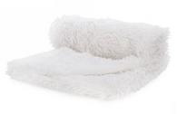 """White soft faux fur throw 52""""x64"""""""