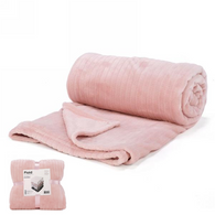 "Soft pink lined pattern soft throw - approx 56""x72"""