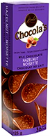 Chocola's crispy milk Belgian chocolate thins - Hazelnut 125 gr., 12/cs