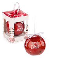 "3"" LED Ornament ""Best Dad"""