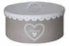 """Round """"Biscuits"""" tin with scalloped edge cover 8""""Dx4""""H"""