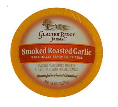 Glacier Ridge Farms Shelf Stable Smoked Roasted Garlic cheese 226 gr., 12/cs