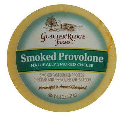 Glacier Ridge Farms Shelf Stable Smoked Provolone cheese 226 gr., 12/cs