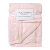 "TAHARI super soft plush blanket with hearts design 30""x40"" - PINK"