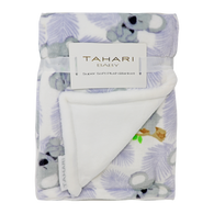 "TAHARI super soft plush blanket 30""x40"" - KOALA"