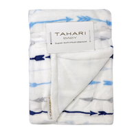 "TAHARI super soft plush blanket 30""x40"" - ARROW"