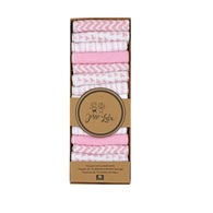 "Jess & Lulu 16-Pack Terry Washcloth - PINK Set includes: 16 washcloths, 8""x8"", 70% Cotton, 30% Polyester"