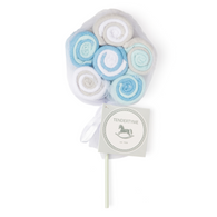 "Tendertyme 12 pack Washcloth Lollipop - BLUE Set includes: 12 washcloths, 9""x9"", 60% Cotton, 40% Polyester"