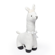 """100% Cotton exterior cable knit Llama - IVORY 12""""H"""