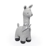 "100% Cotton exterior cable knit Llama - GREY 12""H"