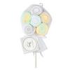 Tendertyme 12 pack Washcloth Lollipop - YELLOW/GREY